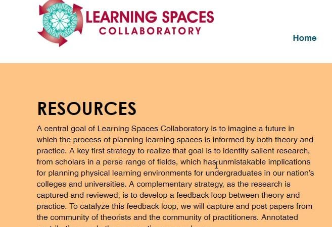 Learning Spaces Collaboratory Website